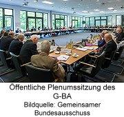 Öffentliche Plenumssitzung des G-BA, Bildquelle: Gemeinsamer Bundesausschuss