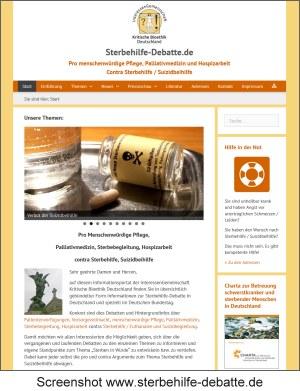 Screenshot Sterbehilfe-debatte.de