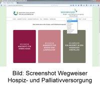 Bild Screenshot Wegweiser Hospiz- und Palliativversorgung