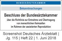 Bild Bundesärztekammer Richtlinie Assistierte Reproduktion