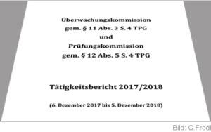 Bild Jahresbericht 2017/2018 der Prüfungskommission und Überwachungskommission zur Prüfung der Transplantationsprogramme