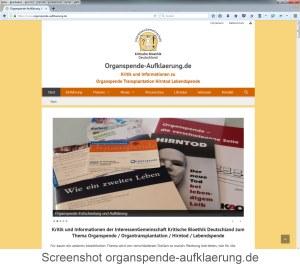 Screenshot organspende-aufklaerung.de