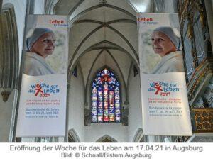 Eröffnung der Woche für das Leben am 17.04.21 in Augsburg