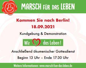 Marsch für das Leben 18.09.2021