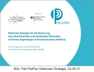 PallPan - Nationale Strategie für die Betreuung von schwerkranken und sterbenden Menschen und ihren Angehörigen 2021