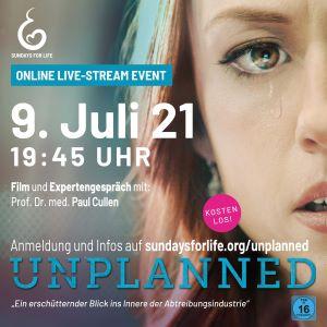 Film Unplanned online am 09.07.21